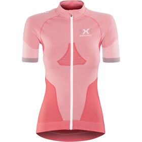 X-Bionic Race Evo Maillot de cyclisme OW Manches courtes Femme, pink paradise/pearl grey